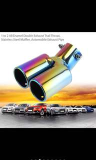 Colorful stainless steel exhaust pipe tail