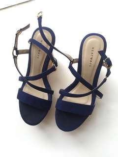 Navy Wedges Shoes