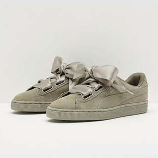 Puma Womens Suede Heart Pebble