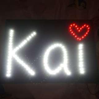 WTS exo Kai led board ..