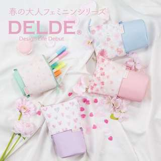 New Limited Edition Japan Delde Spring Sakura Heart Pencil Case