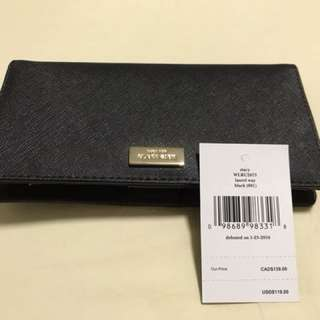 Kate spade black Stacy wallet.  Retail at S$190 in Singapore.