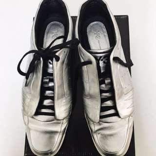 🚚 Y3 銀色限量全皮革休閒鞋 Yohji Yamamoto 山本耀司 silver leather moto low