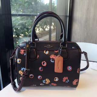 Coach Mini Bennett Satchel with Primrose Print - Black
