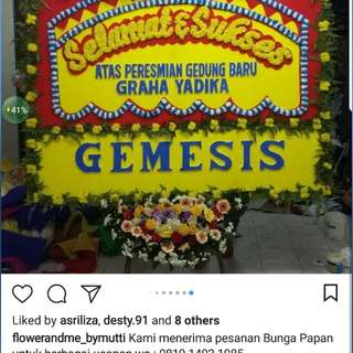 Bunga Papan By Flower and Me Florist