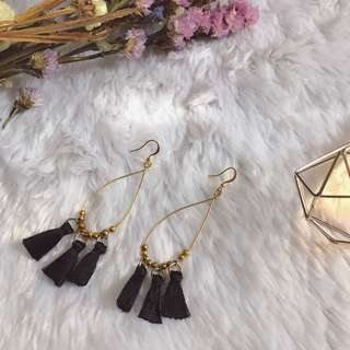 Cute black earrings