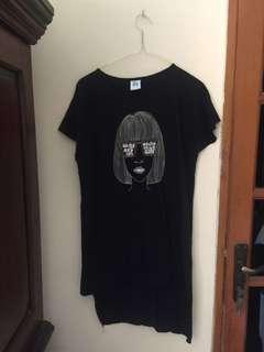 Dress hitam kaos (local brand) brand lokal