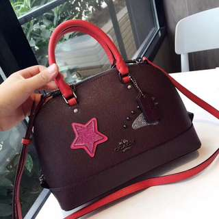 Coach Mini Sierra Satchel - Maroon colour