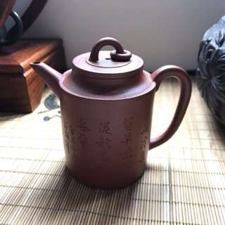 80 年代紅泥紫砂壶 Red clay Chinese Zisha teapot