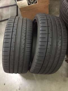 4 pieces of 245/40/18 Dunlop sp sport maxx tyres