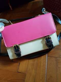 White and pink bag
