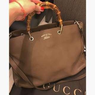 80% NEW GUCCI Bamboo Shopper Medium Tote Bag