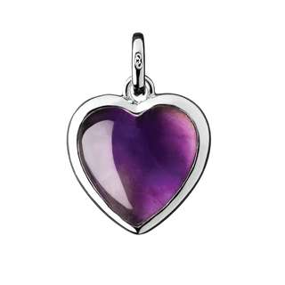 Links of London Amethyst Heart Charm
