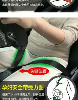 Pregnant women seat belts buckle
