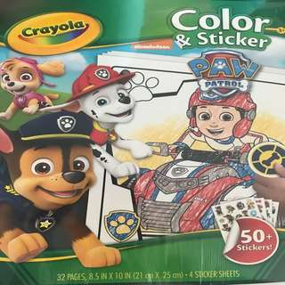 Paw patrol Colouring & sticker book