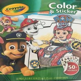 Paw patrol Colouring & sticker book
