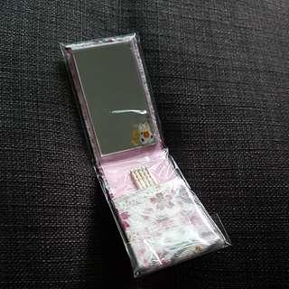 Japanese mini pocket and mirror set