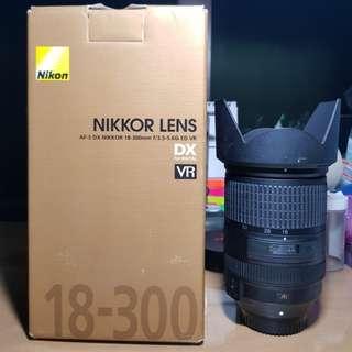 Nikon 18-300mm lens F3.5-F5.6