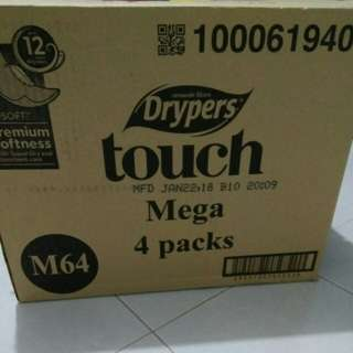 DRYPERS Touch MEGA 4 packs! Size M
