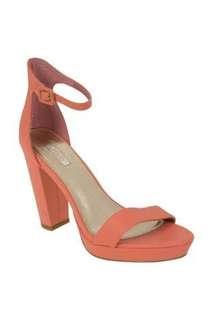 NUDE flamenco platform strap pink heels shoes size 36 6