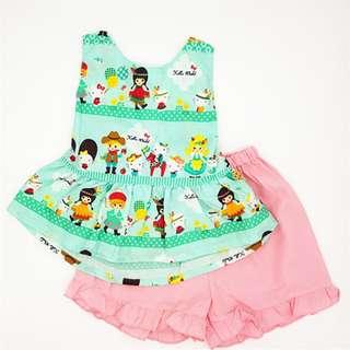 Kitty Girl 2-pc girl cotton big bow set