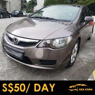 Honda Civic 1.6A VTi Car Rental for GRAB/UBER/PERSONAL