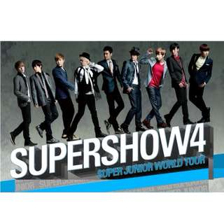ON HAND SEALED Super Junior Super Show 4 Concert DVD