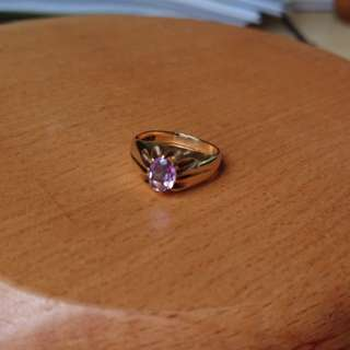 Solid 9k gold Vintage Amethyst gentleman's ring
