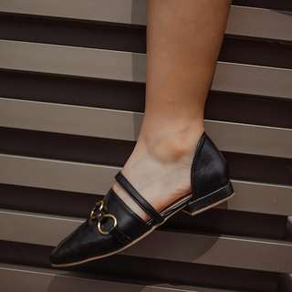 Black D'orsay Flats (Available: Size: 5-10)