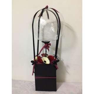 🎁 Hot Air Balloon Flower Gift 🎁