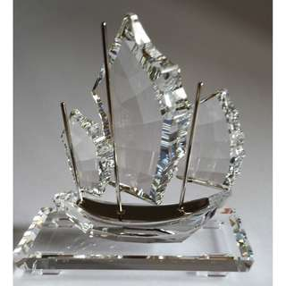 Swarovski Crystal, 施華洛世一帆風順水晶帆船 Art No 5030115