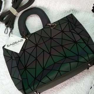 Issey Miyake Bao Bao Luminous Geometric Quilted Bag with Sling