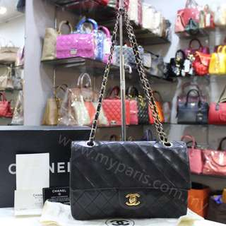 Chanel Vintage Black Lambskin Medium Double Flap Bag