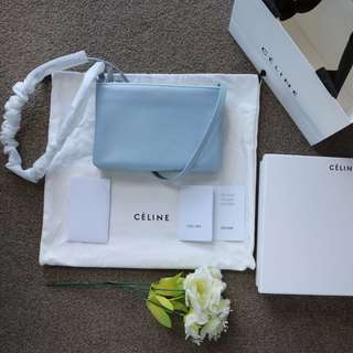 Celine Trio small shoulder bag in lampskin