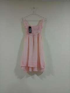 Peach Dress (MASIH BARU)