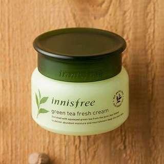 Innisfree greentea fresh cream