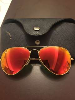 Authentic Ray Ban Aviator flash lens