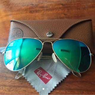 Authentic Ray-Ban (RB 3025) Aviator Large Metal
