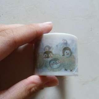 penguin washi tape