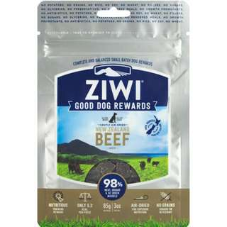 ZIWI PEAK GOOD DOG REWARDS POUCHES 85GM Beef/Lamb/Venison
