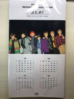 BTS 2017 Season's Greetings stand up desk calendar