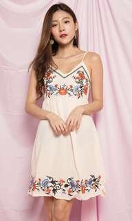 (LBR) Embroided Dress In Pink