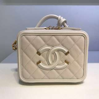 Chanel vanity case small size off white