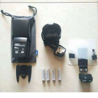 Speed lite set, battery grip set, lenses