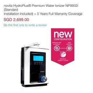 Novita Np9932I Hydroplus Premium Water Ionizer