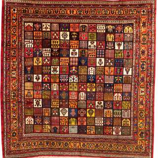 SAMEYEH LOT NO 2843 BAKHTIARY FROM C. PERSIA 396 X 388 CM
