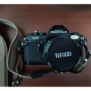Pentax Asahi K2 Manual Focus Film Camera with lens
