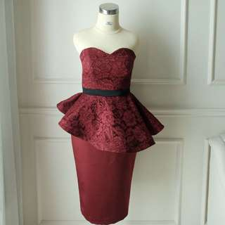 Dress Pesta Peplum