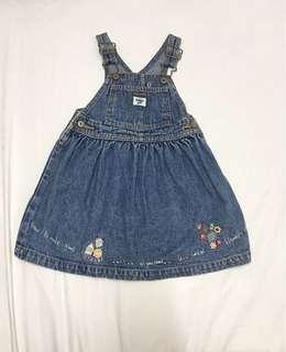 Oshkosh Dress overalls denim cute cupcakes jumpsuit