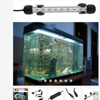 Waterproof Underwater Aquarium Fish Tank LED Light Bulb Lamp Tube 18cm